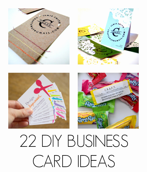 Business Card Ideas for Crafters New Diy Business Cards C R A F T