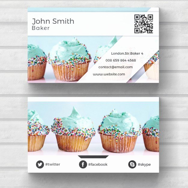 Business Card Images Free Inspirational Muffin Business Card Psd File
