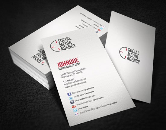 Business Card social Media Awesome top 6 Important Things to Add In Business Cards