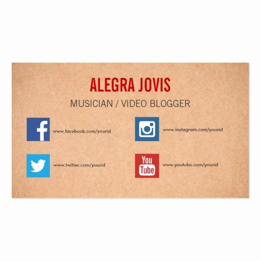 Business Card social Media Elegant social Media Musician You Tube Business Card