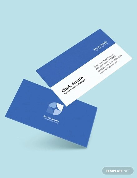 Business Card social Media Fresh 13 social Media Business Card Templates Psd Word Ai