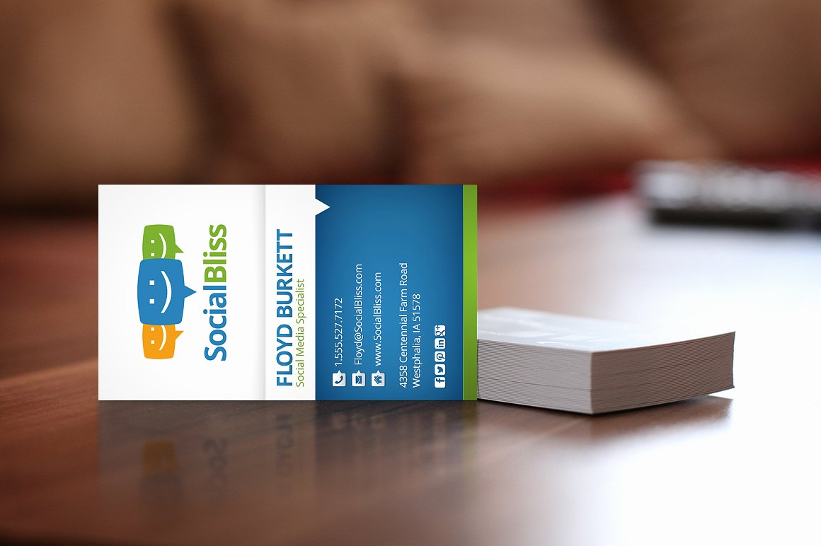 Business Card social Media Inspirational social Media Business Card Business Card Templates On