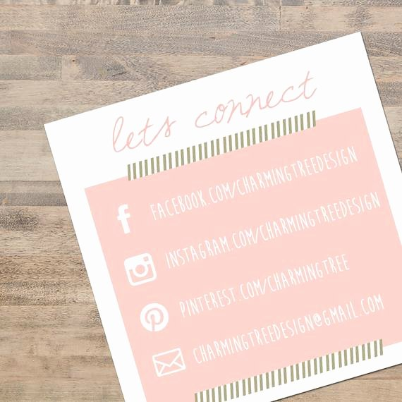 Business Card social Media Inspirational Unavailable Listing On Etsy