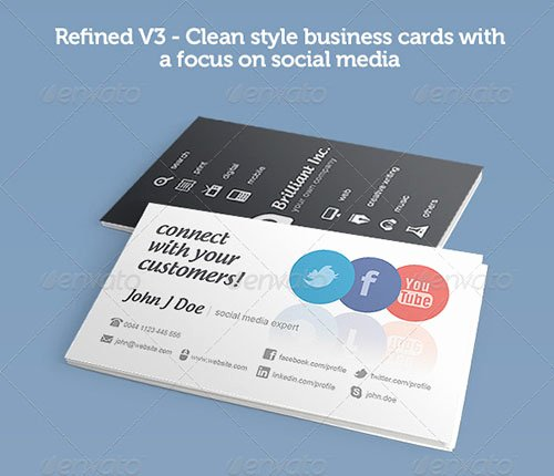 Business Card social Media Luxury 50 Creative Psd Business Card Templates