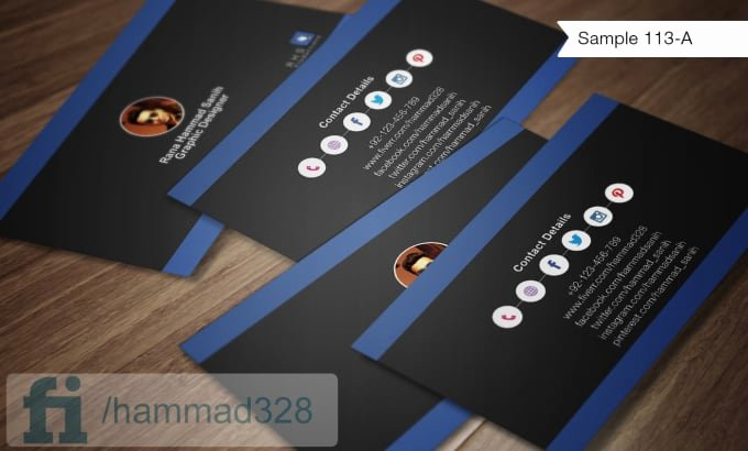 Business Card social Media Luxury Make social Media Business Cards by Hammad328