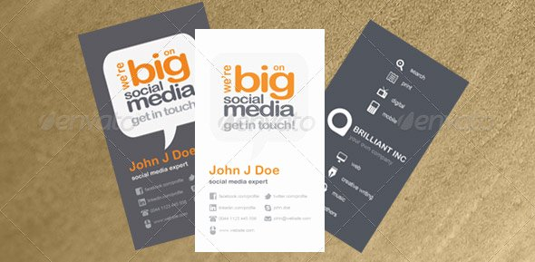 Business Card social Media Unique 24 Nice social Media Business Card Psds – Design Freebies