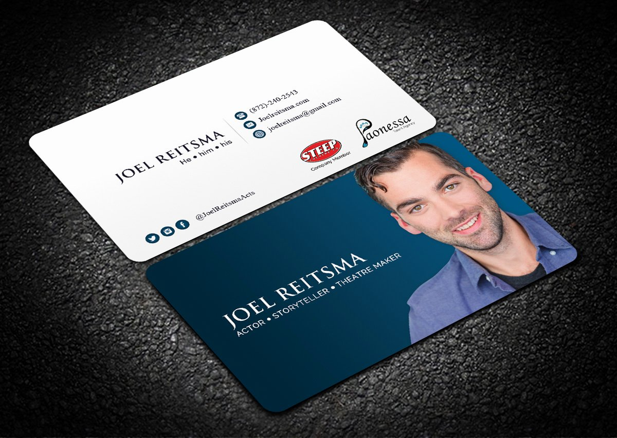 Business Cards for Actors Awesome 58 Bold Business Card Designs
