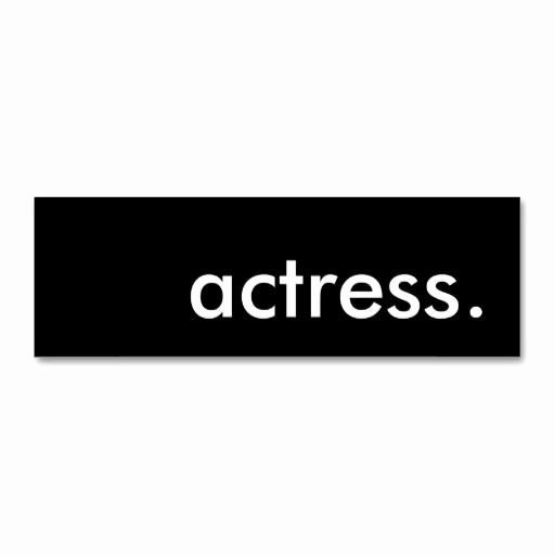 Business Cards for Actors Inspirational 296 Best Actor Actress Business Cards Images On Pinterest