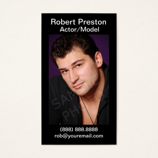 Business Cards for Actors Lovely Actor Headshot Business Cards