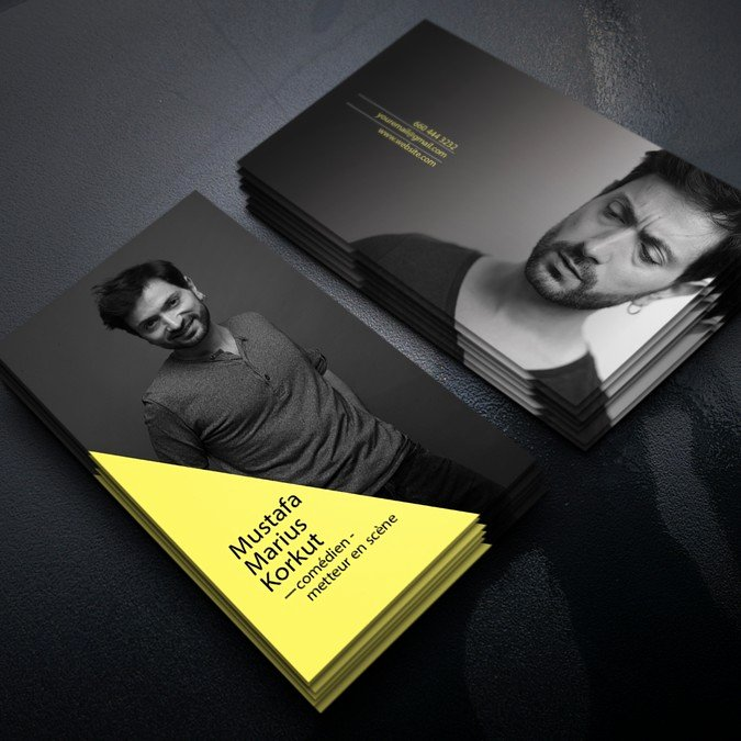 Business Cards for Actors New Actor Director Business Card Help Next Jason Bourne to