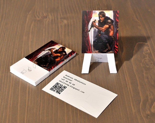 Business Cards for Artists Awesome Easel Business Cards