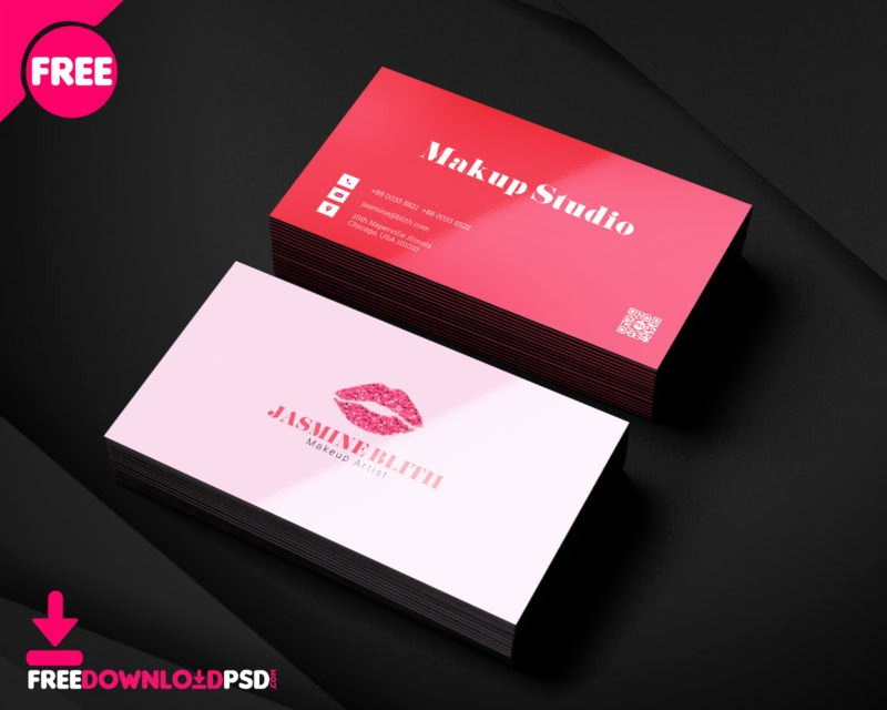 Business Cards for Artists Beautiful Makeup Artist Business Card Template