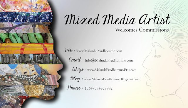 Business Cards for Artists New Malinda Prud Homme A Mixed Media Artist S Blog My New Art Business Card Design