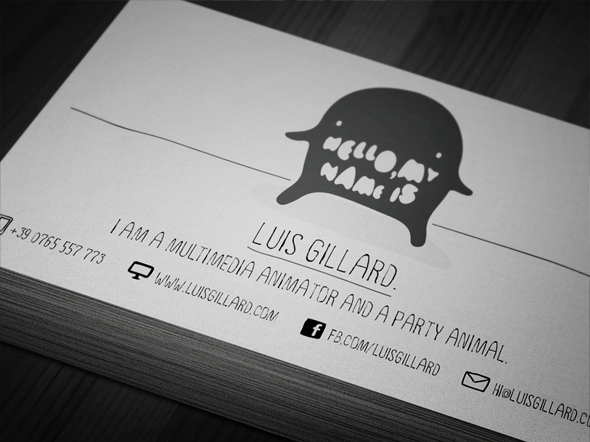 Business Cards for Artists Unique Multimedia Artist Business Card On Behance