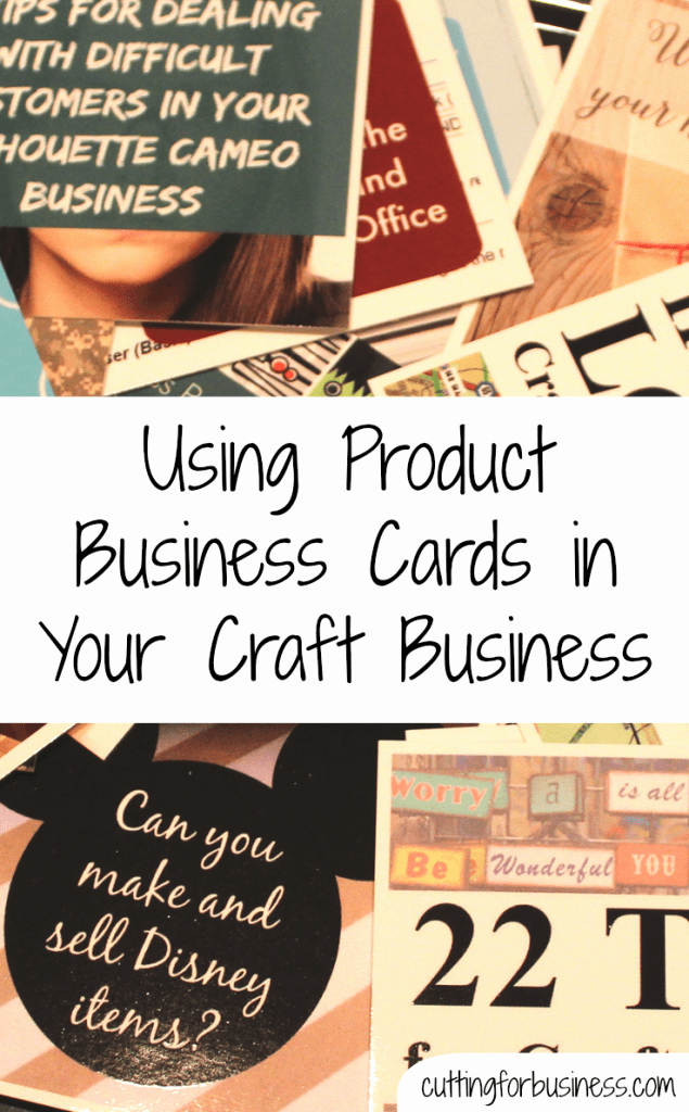 Business Cards for Crafters Awesome Product Based Business Cards In Your Craft Business Cutting for Business