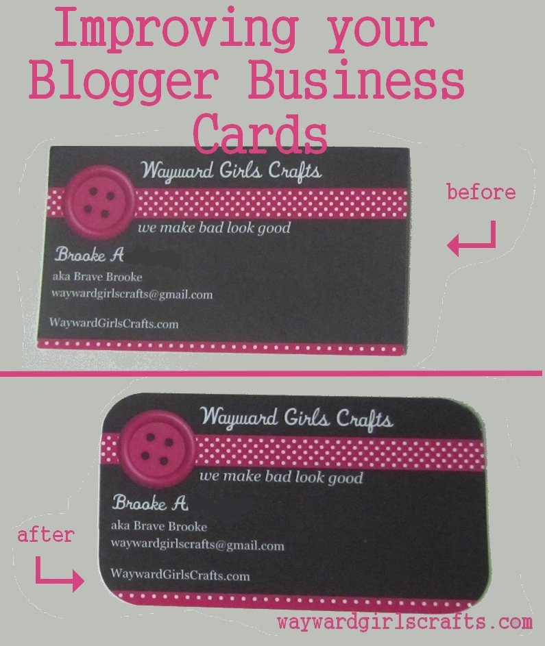 Business Cards for Crafters Best Of Wayward Girls Crafts Improving Your Plain Business Cards