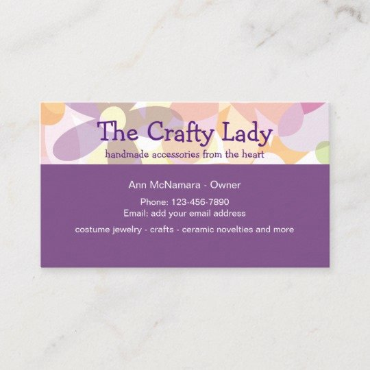 Business Cards for Crafters Fresh Fun Crafting Supplies and Craft Lady Business Card