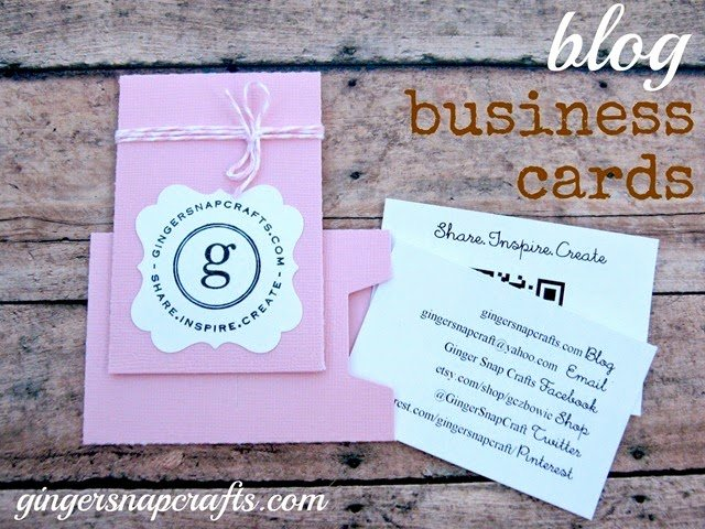 Business Cards for Crafters Lovely Ginger Snap Crafts Wow Me Wednesday 148