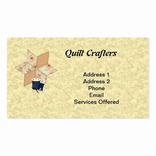 Business Cards for Crafters Unique Quilt Crafters Business Card