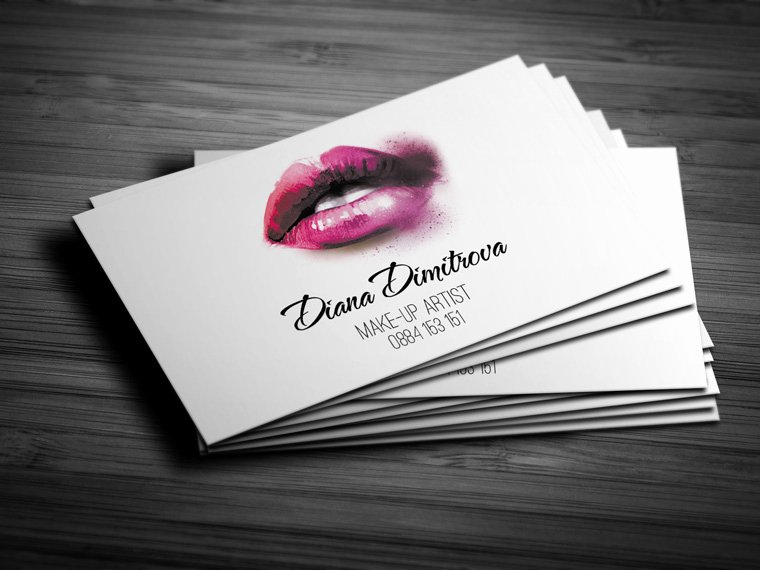 Business Cards for Makeup Artist Awesome Make Up Artist Business Card Design
