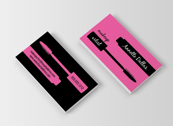 Business Cards for Makeup Artist Awesome top 25 Professional Makeup Artist Business Card Ideas