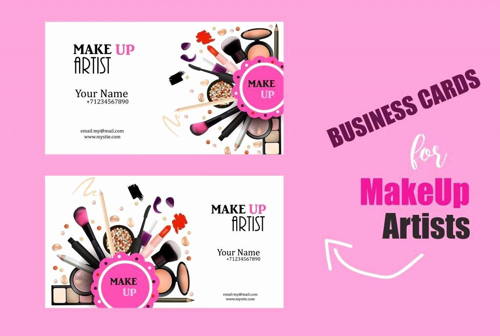 Business Cards for Makeup Artist Best Of 27 Makeup Artist Business Card Designs & Examples Word Psd Ai Vector Eps
