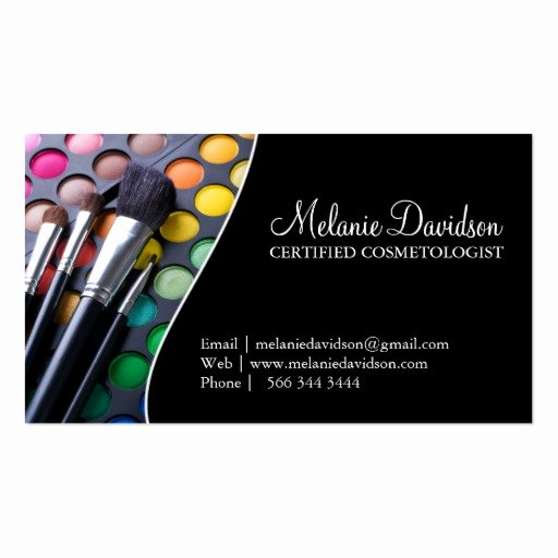 Business Cards for Makeup Artist Elegant Makeup Artist Business Card Template