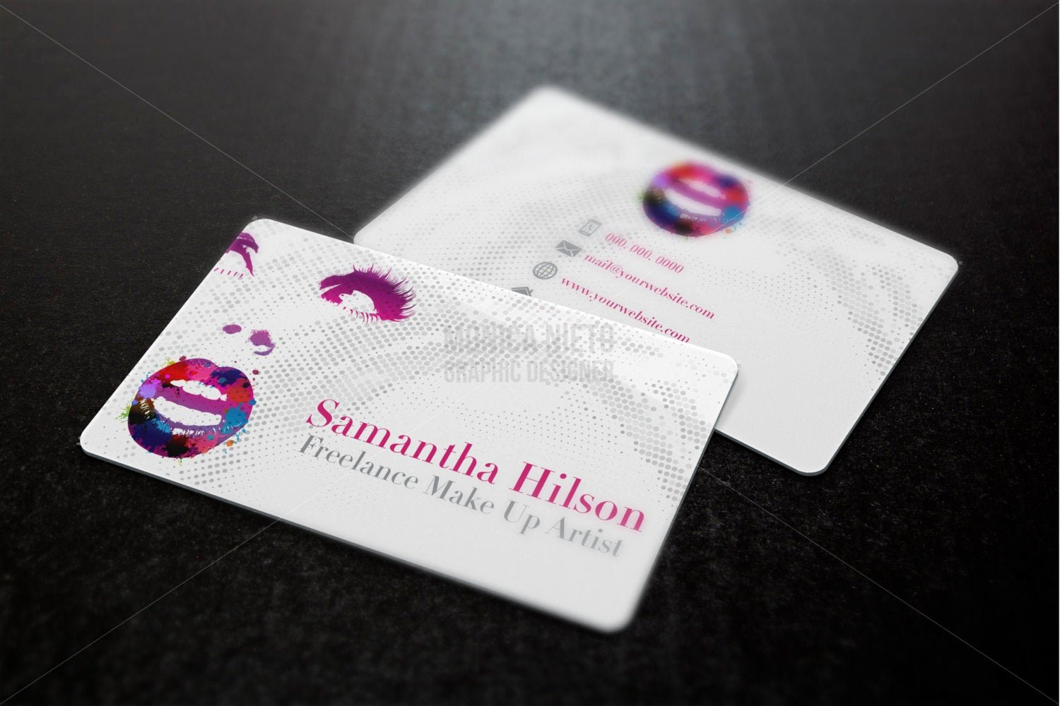 Business Cards for Makeup Artist Luxury Printable Makeup Artist Business Cards Freelance Makeup