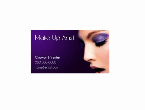 Business Cards for Makeup Artist New Makeup Artist Business Card Samples Startupguys