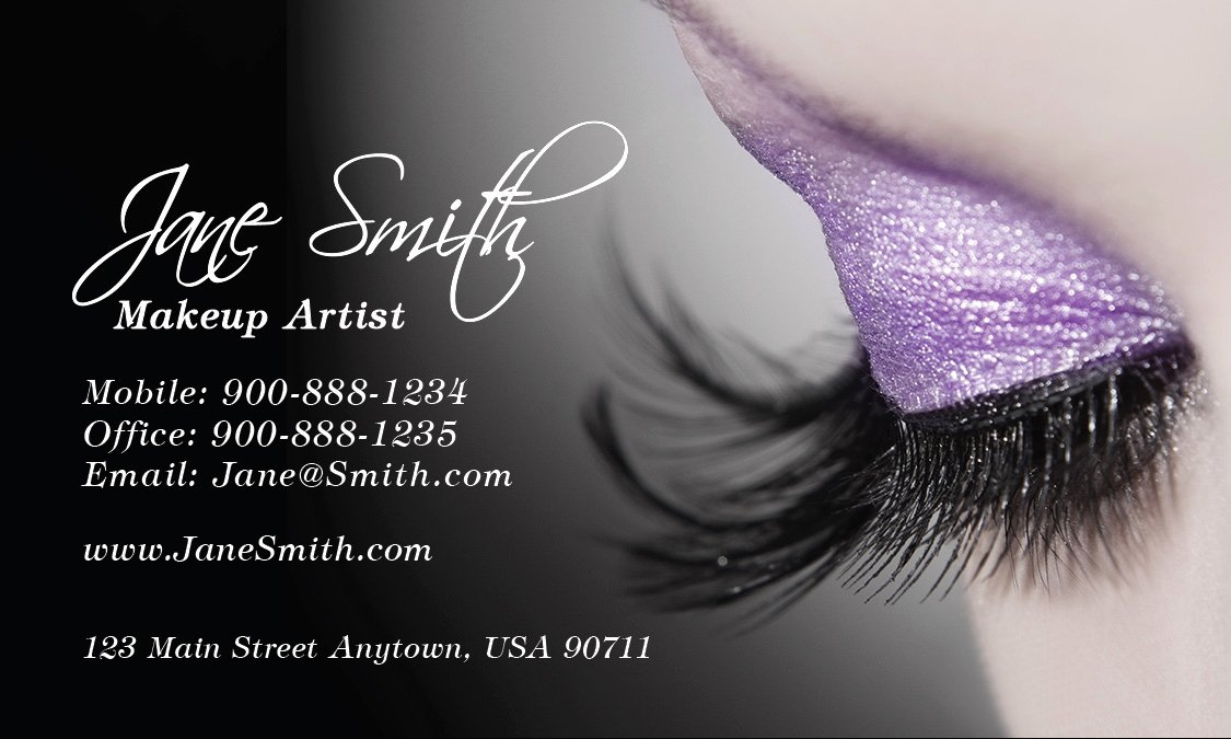 Business Cards for Makeup Artist Unique Cosmetology Make Up Artist Business Card Design