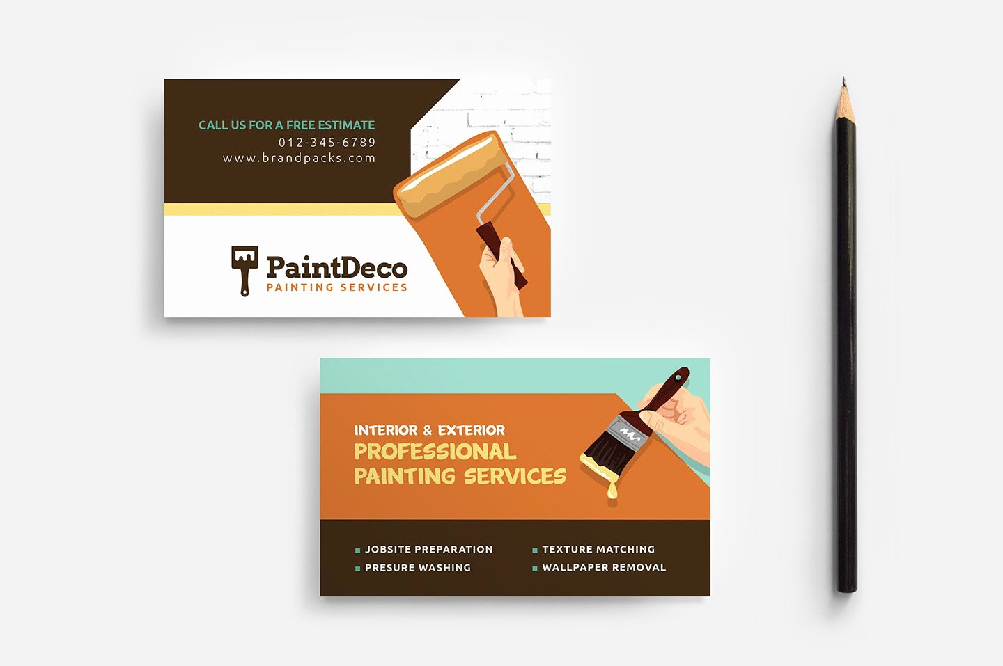 Business Cards for Painters Awesome Painter & Decorator Business Card Business Card