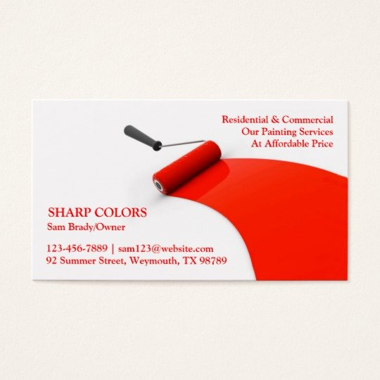 Business Cards for Painters Awesome Painting Business Card