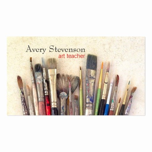 Business Cards for Painters Best Of Artist Paint Brushes Painter Art Instruction Business Card