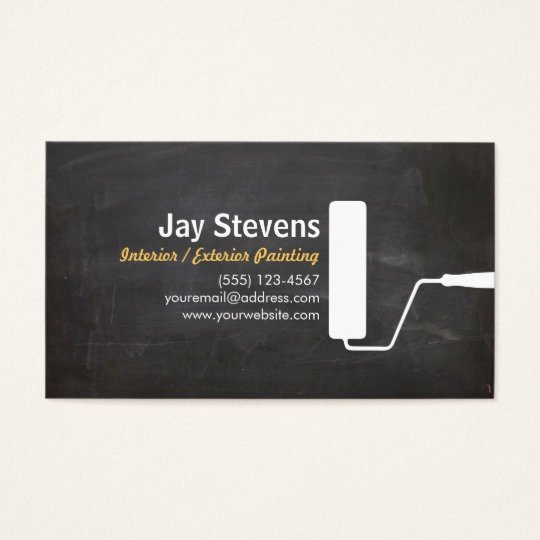 Business Cards for Painters Inspirational House Painter Black Painting Business Business Card
