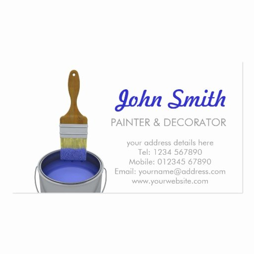 Business Cards for Painters Luxury Painting and Decorating Business Card