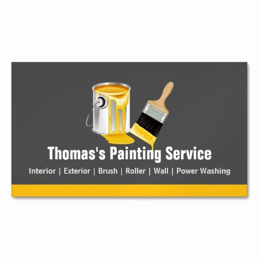 Business Cards for Painters Luxury Professional Painting Service Painter Paint Brush Magnetic