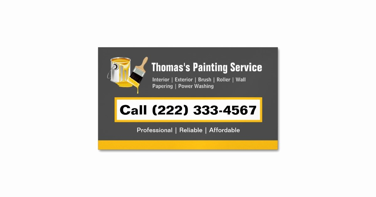 Business Cards for Painters New Professional Painting Service Painter Paint Brush Business