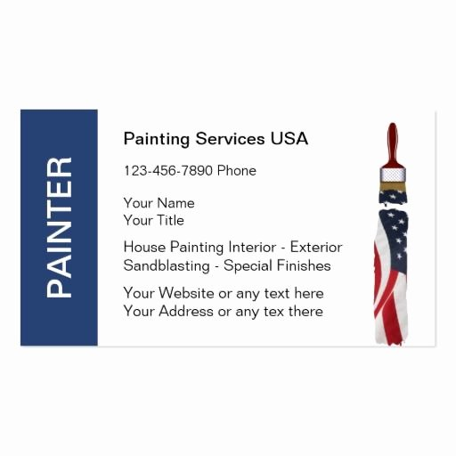 Business Cards for Painters Unique 199 Best Images About Painter Business Cards On Pinterest