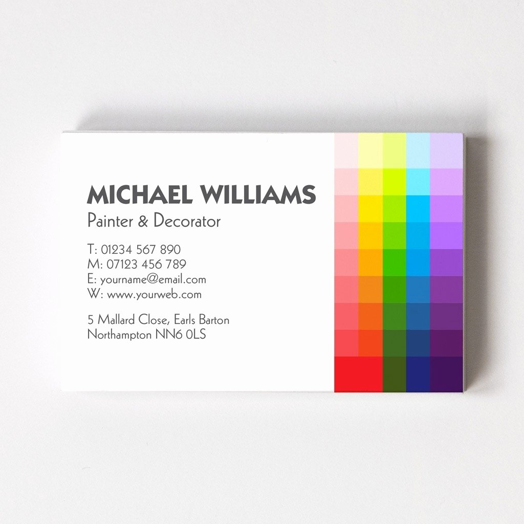 Business Cards for Painters Unique Painter & Decorator Templated Business Card 2 Able Labels
