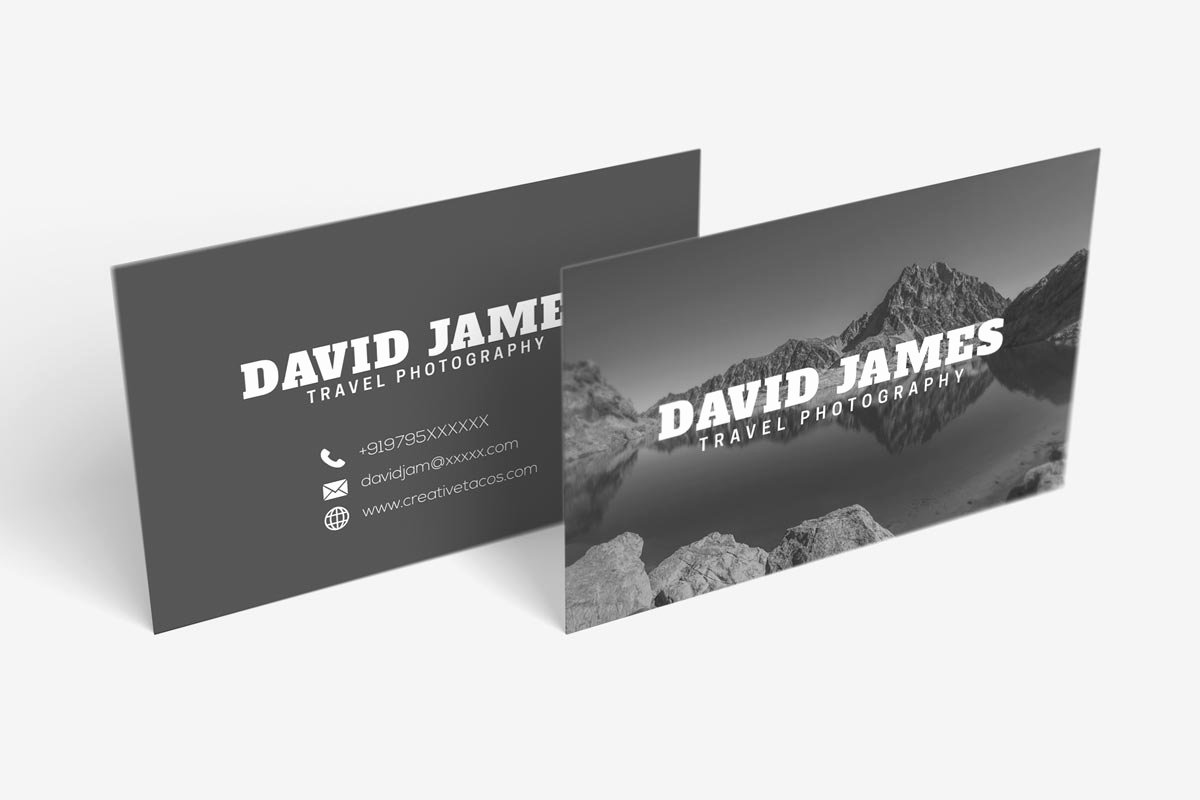 Business Cards for Photographers Elegant Free Travel Graphy Business Card Creativetacos