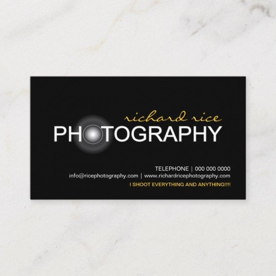 Business Cards for Photographers Lovely Grapher Business Cards
