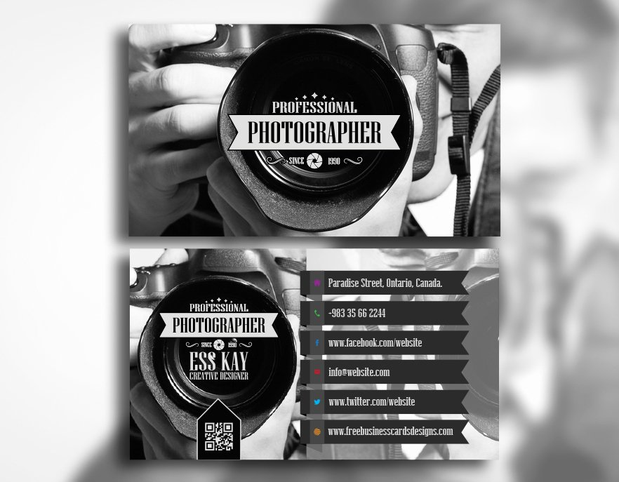 Business Cards for Photographers New Free Professional Grapher Business Card