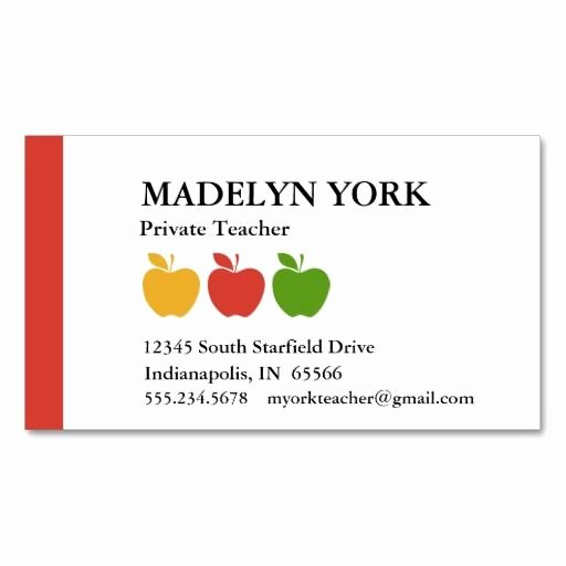 Business Cards for Teachers Inspirational Best 25 Teacher Business Cards Ideas On Pinterest