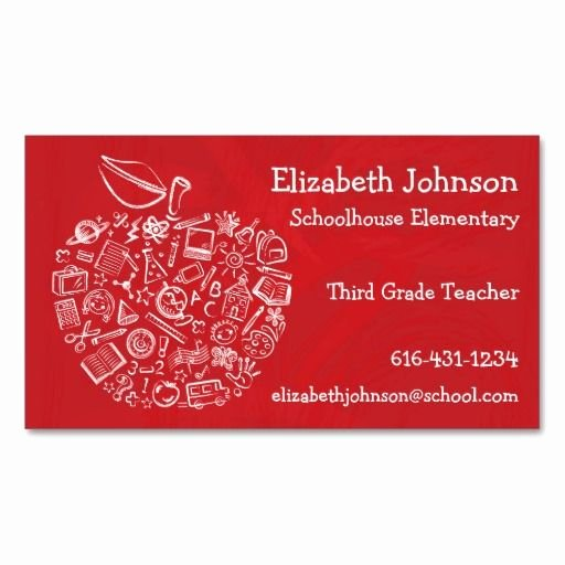 Business Cards for Teachers Luxury 287 Best Teacher Business Cards Images On Pinterest