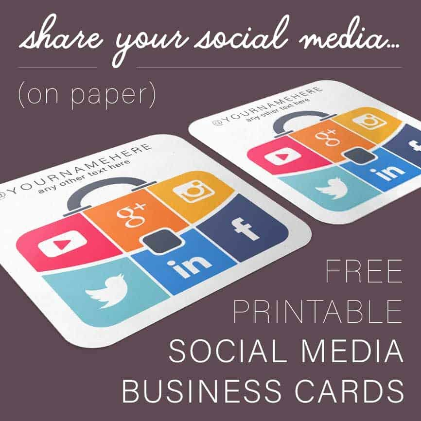 Business Cards with social Media Awesome Suitcase social Media Business Cards Free Printables Line