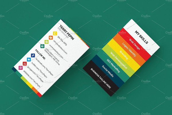 Business Cards with social Media Beautiful 39 social Media Business Card Templates Free & Premium Download