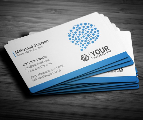 Business Cards with social Media Fresh Creative social Media Business Card On Behance