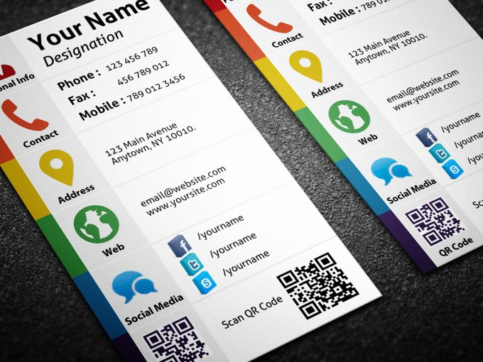Business Cards with social Media Inspirational Design Personal social Media Business Card Fiverr