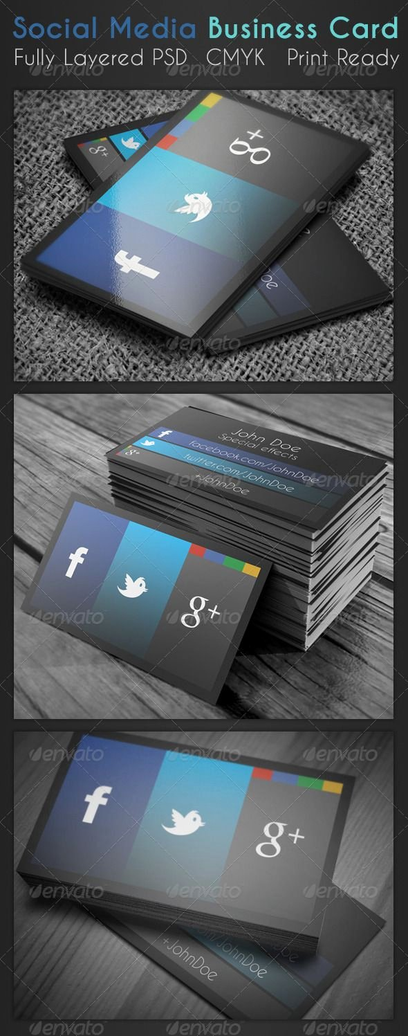 Business Cards with social Media Unique 23 Best Business Cards with social Media Contact Information Images On Pinterest