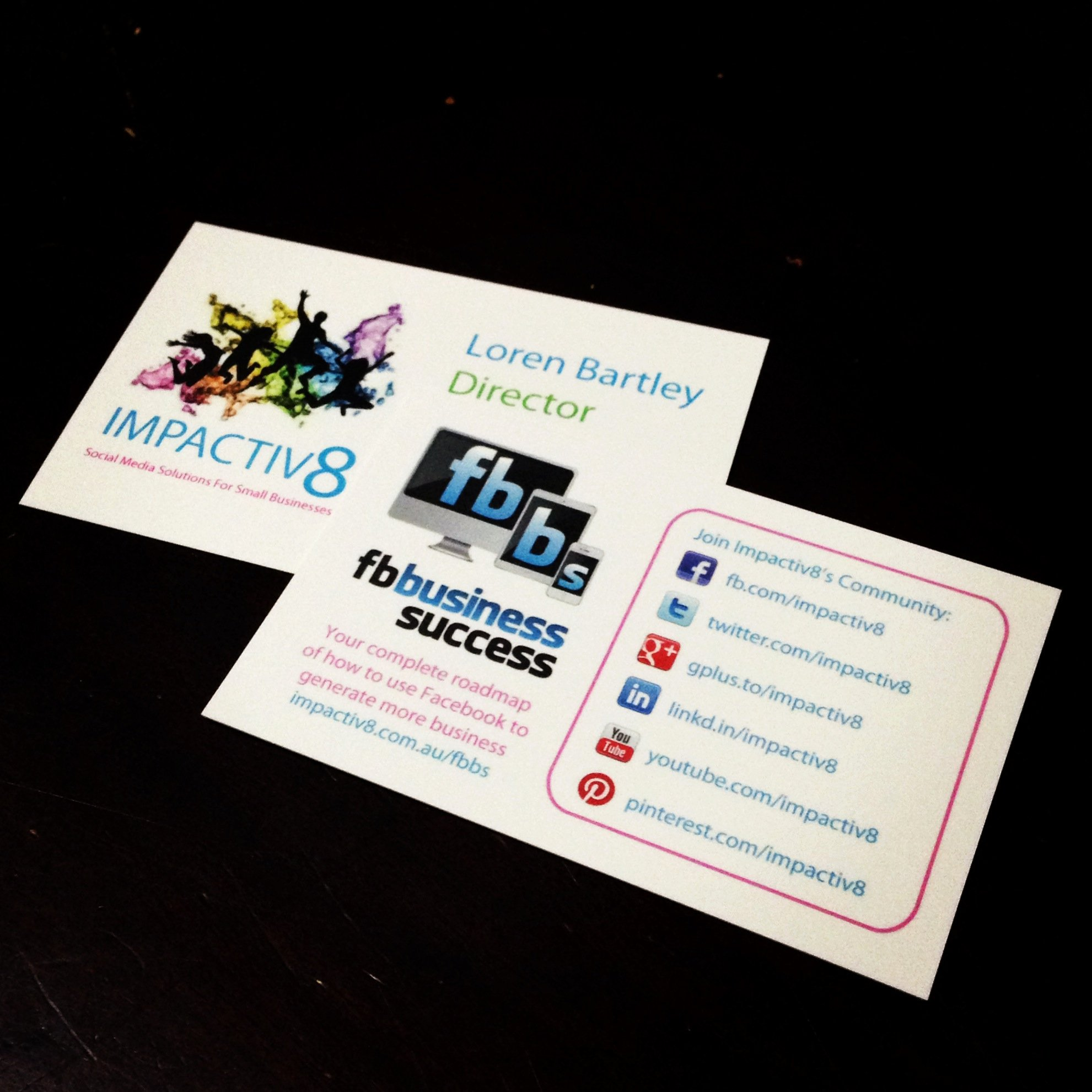 Business Cards with social Media Unique Page Promotion Ideas Examples What Other Businesses are Doing
